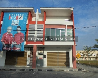 2 Storey Terrace Shop Office, End Lot