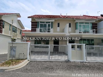 [8 min to Desaru] 2 Storey Terrace House, End Lot (Newly completed in 2019)